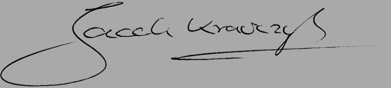 Jacek Krawczyks Signatur