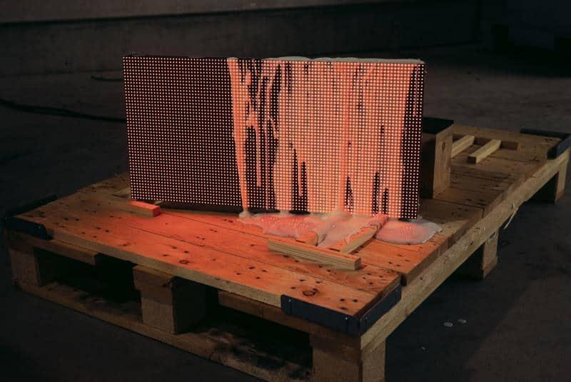 LEDBRIX Modul Test Farbe Fassadeninstallation