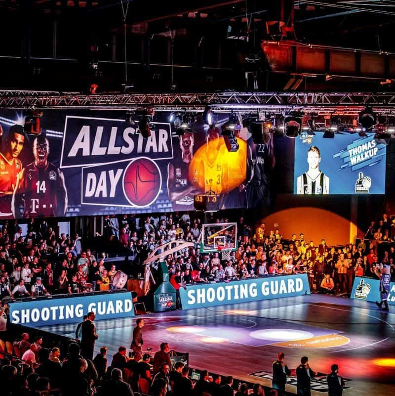 LED-Wall Spielebande Basketball ALLSTAR DAY