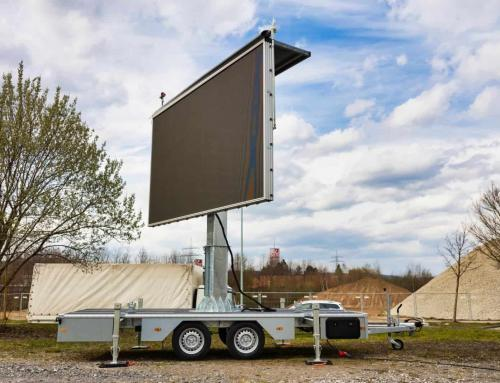 Mobile Video Screen: Our LED-Trailer