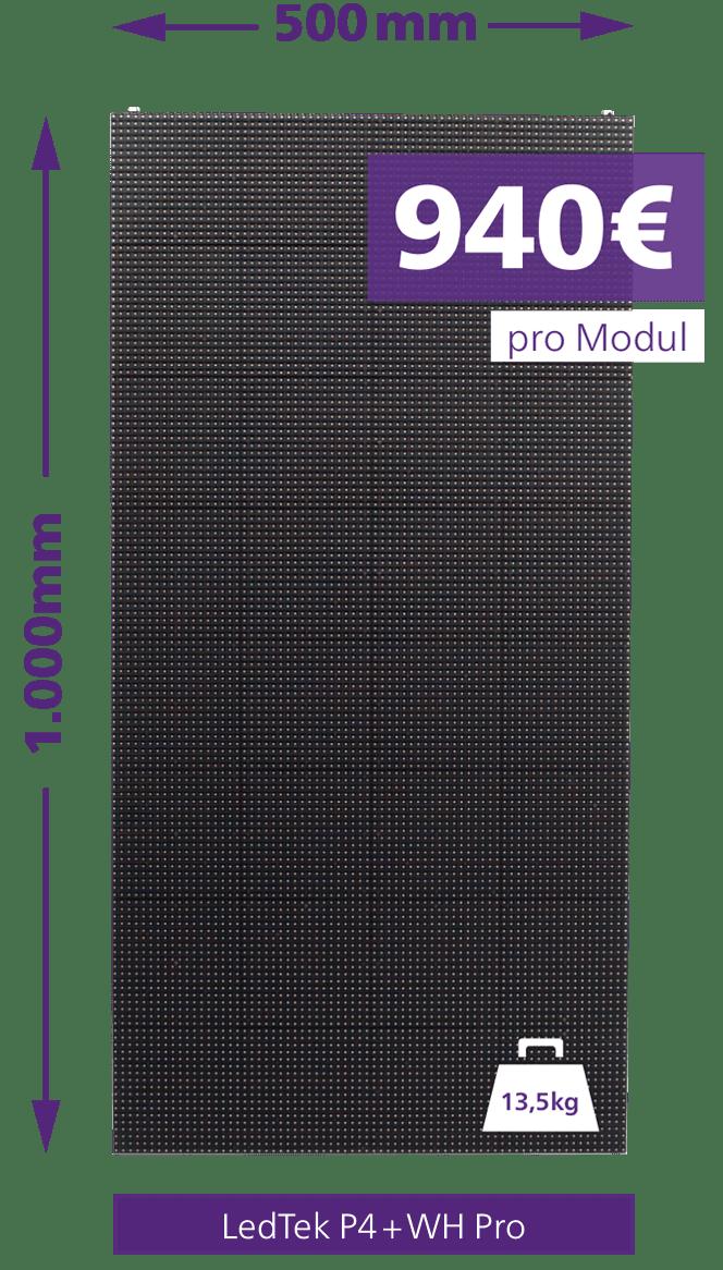LedTek P4+WH Pro Outdoor LED-Wall Preise und Größen