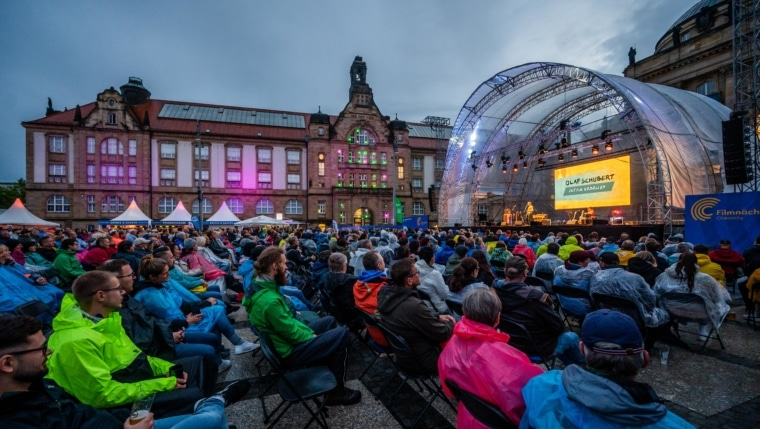 Olaf Schubert, Filmnächte Chemnitz, Event Crew, LED Wand kaufen LED Wand mieten